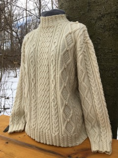 Lessons Learned From A Decades Old Aran Sweater Knits From The Woodlot