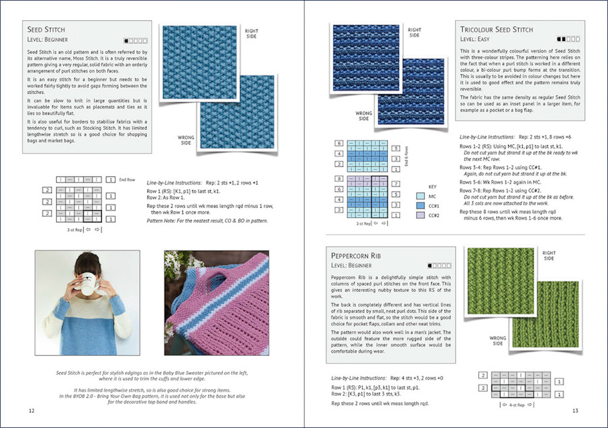 Here\'s a Treasure – An Entire Book of Reversible Knitting Stitches ...